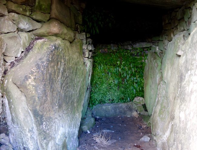 Inside passage tomb at Hill of Tara