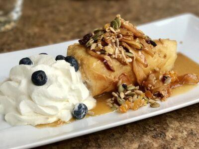 Apple Pie Trail, apple dessert at Pottery Restaurant