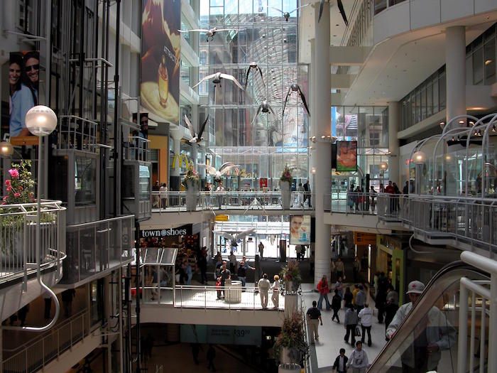 Toronto Eaton Centre inside