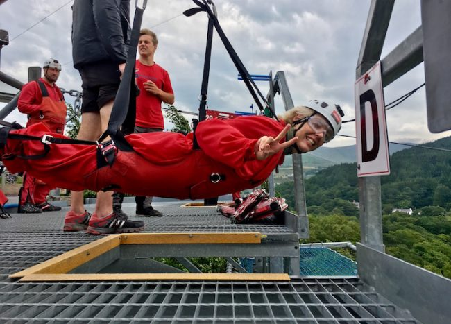 Velocity Zipline Wales