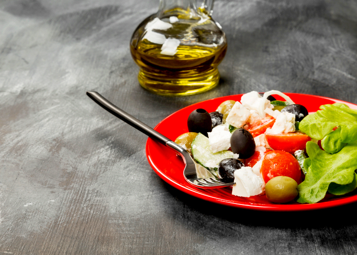 Best foodie places in Toronto: Tapas style Greek food, including feta olives and oil dressing.