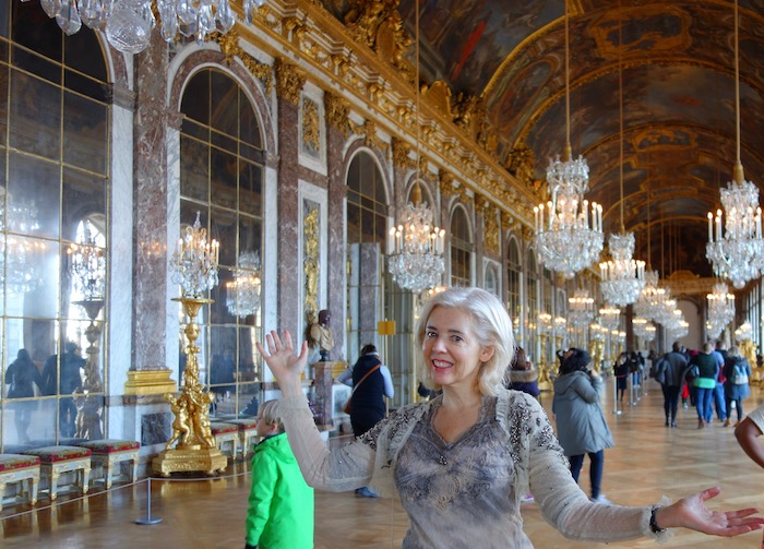 Best place for photo op at Versailles, Hall of Mirrors