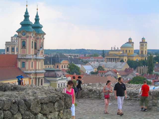 Eger Hungary city view
