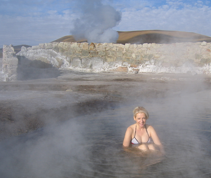 Things to do in the Atacama Desert, soak in the hot springs El Tatio Geysers