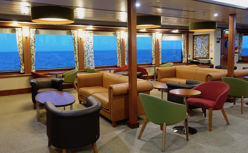 Galapagos cruise review lounge on the Santa Cruz II