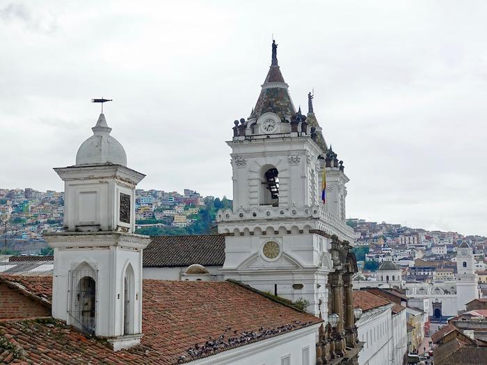 Quito city view from Casa Gangotena