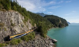 Rocky Mountaineer Canada mountain scenery