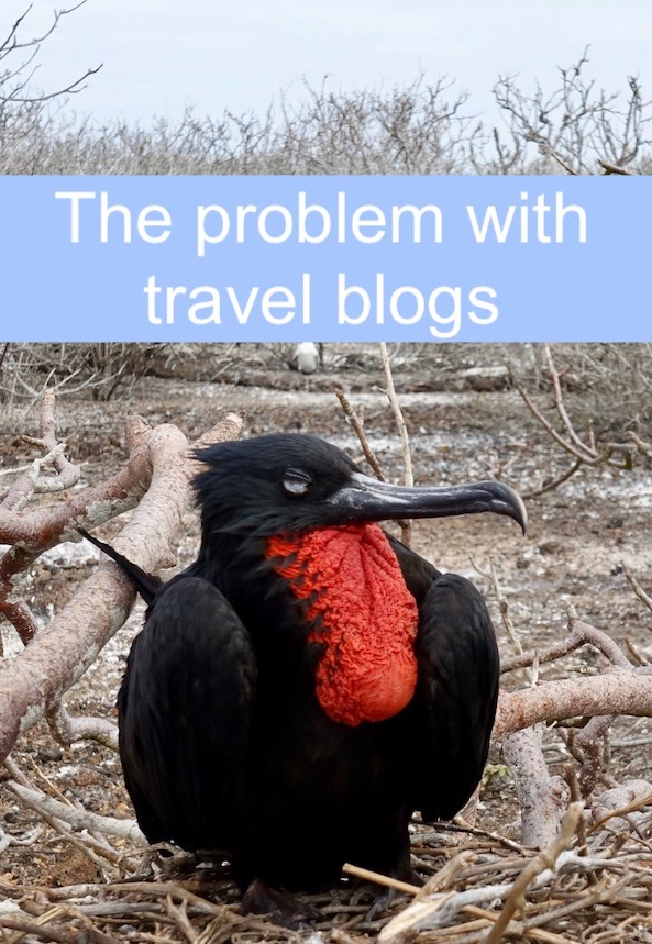 The problem with travel blogs