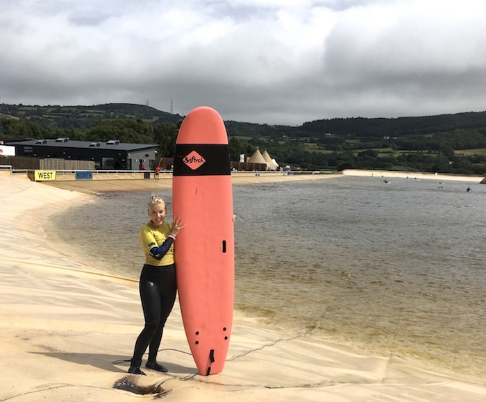 Outdoor adventure in Wales, surfing