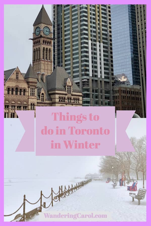 Photo collage of things to do in Toronto in wintertime