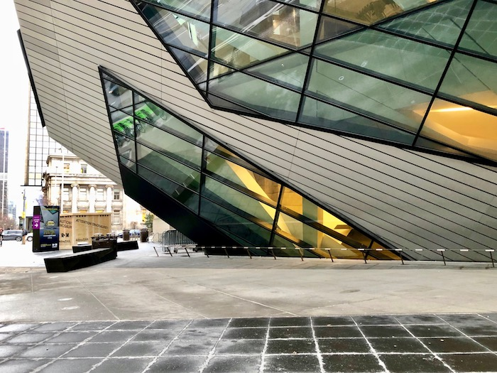 Visit the ROM during a Toronto winter. Here's the exterior