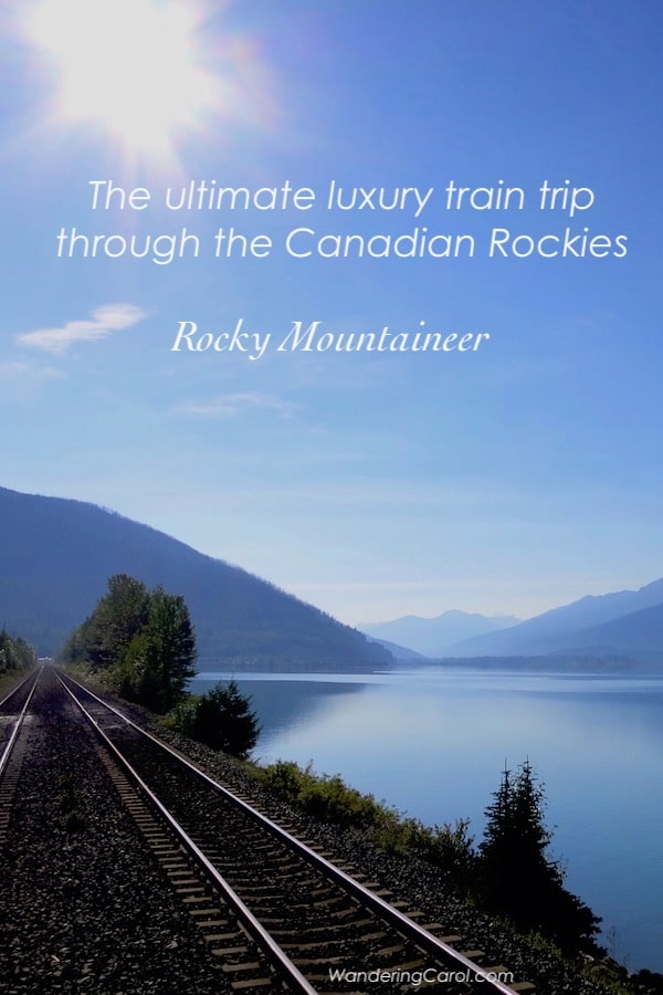 Rocky Mountaineer scenic train route along the water