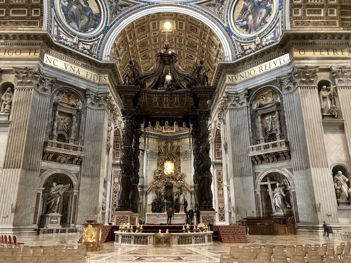 St Peter's Baldacchino by Bernini in the Vatican in Rome