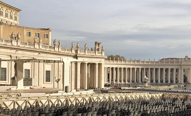 The Vatican and St Peter's Square with no crowds