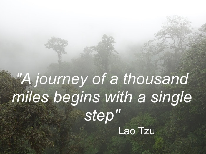 "The greatest travel quotes include this one by Lao Tzu, ""A journey of a thousand miles begins with a single step."