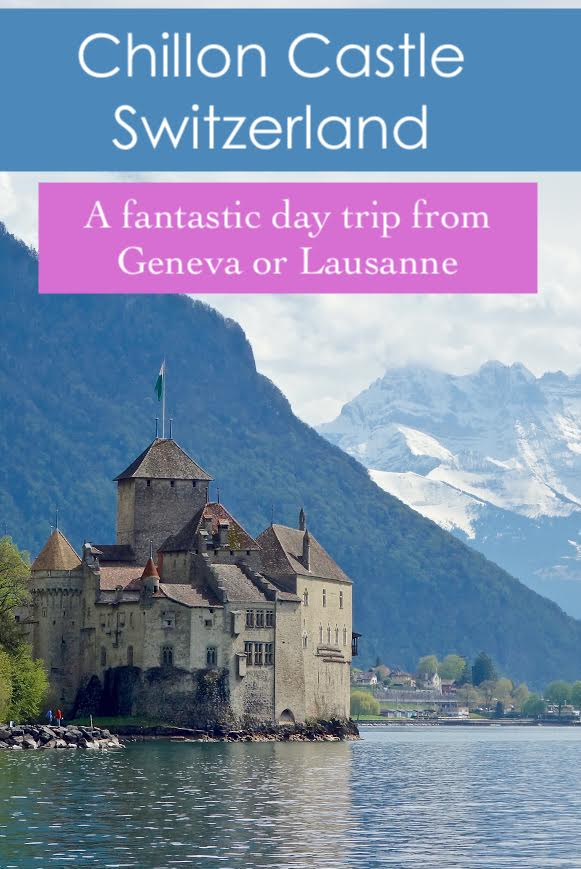 Chillon Castle, the Chateau de Chillon near Montreux in Switzerland is a great day trip from Geneva or Lausanne.