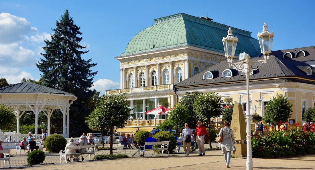 Frantiskovy Lazne health spa in Czech Republic