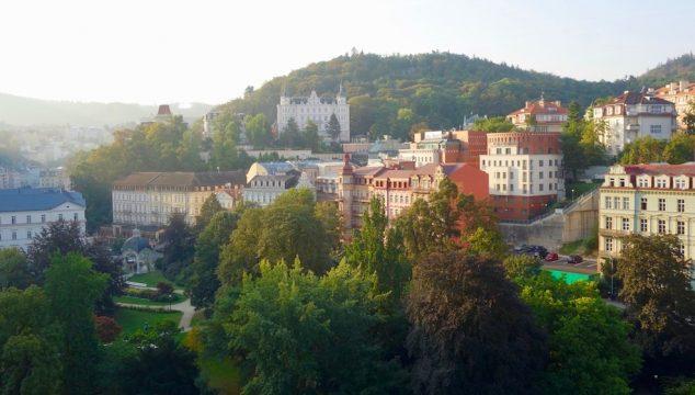 Karlovy Vary panoramic view