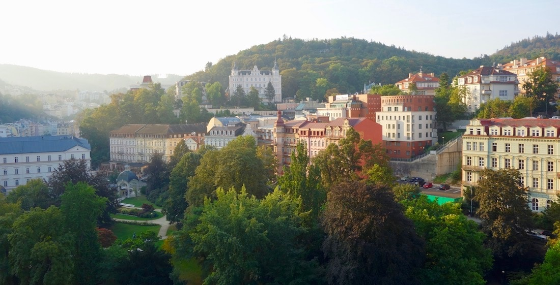 Spa towns in the Czech Republic, Karlovy Vary panorama