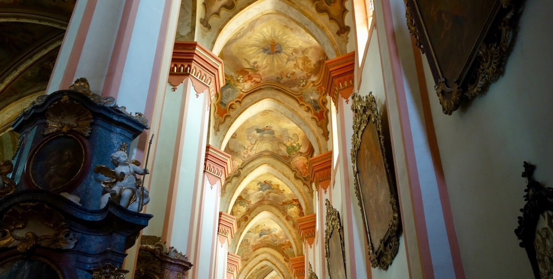 Things to see near Karlovy Vary, Tepla Monastery ceiling