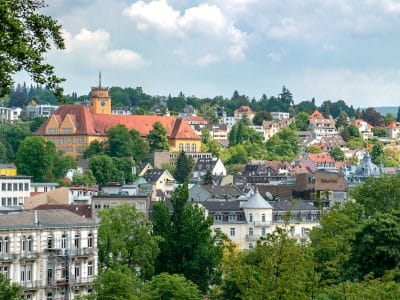 baden baden spa town panoramic view