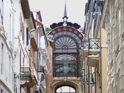 striking buildings of evian france
