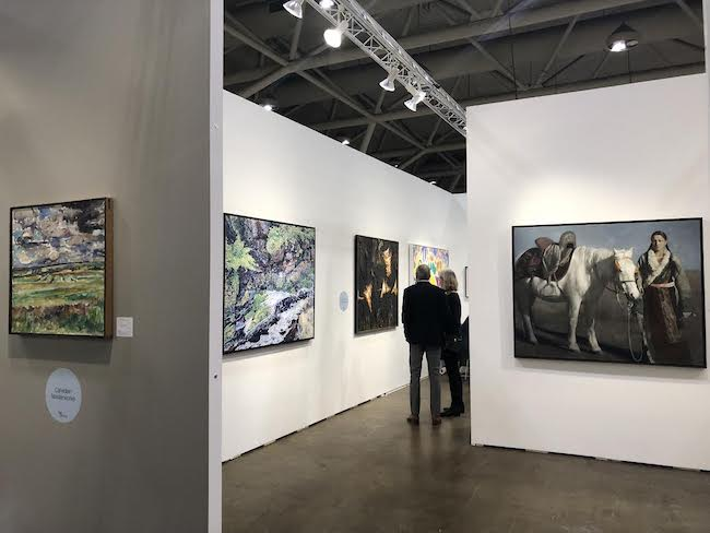 Paintings at the Toronto Art Fair