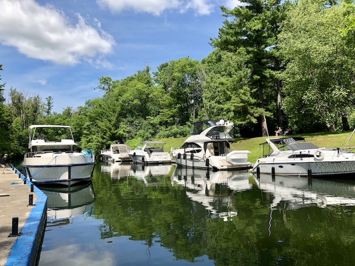 Chaffey's Lock Rideau Canal Ontario houseboats
