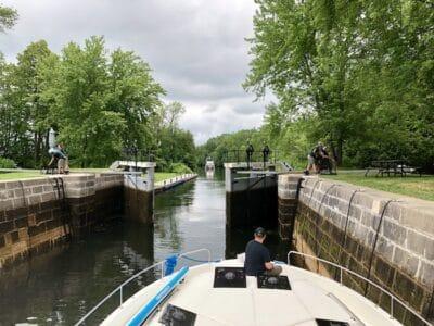 Poonamalie Lock Rideau Canal on our Le Boat Canada