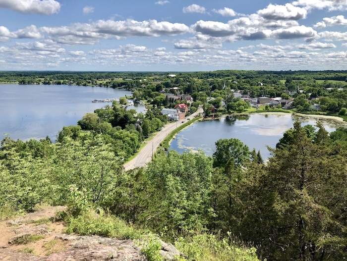 View from Foley Mountain at Westport on the Rideau Canal in Ontario Canada