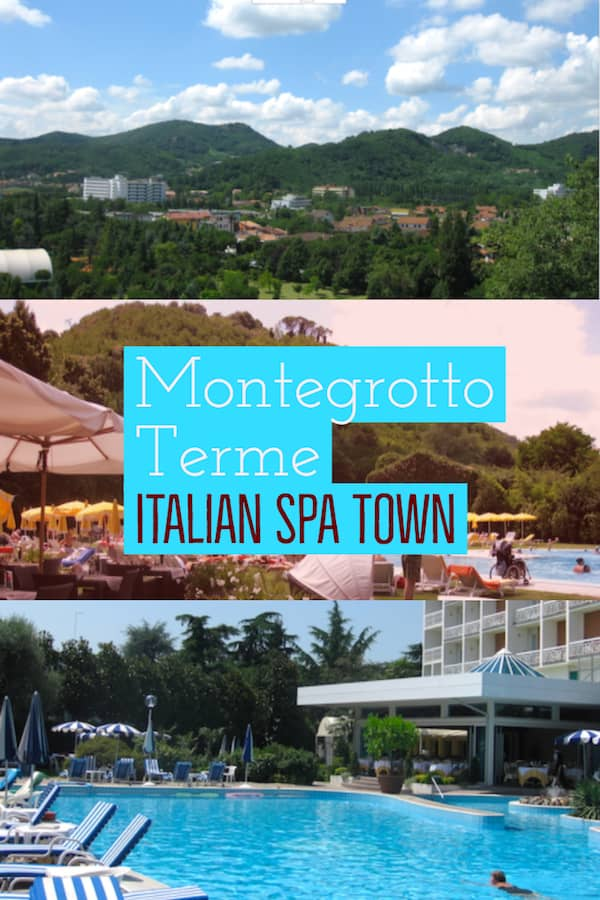 Montegrotto spa town in Italy Pinterest image
