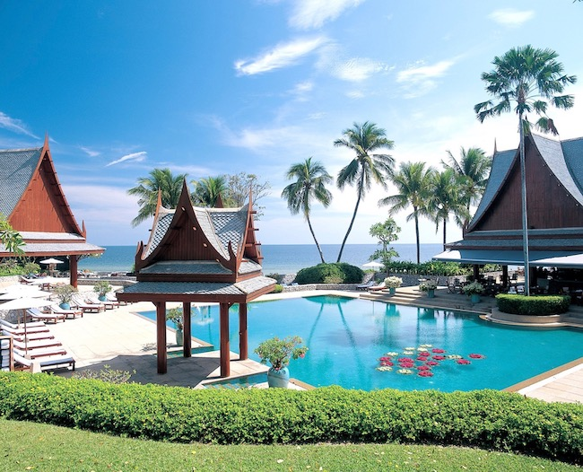 Outdoor pool a Chiva Som, a top spa resort in Thailand photo credit Tourism Authority of Thailand