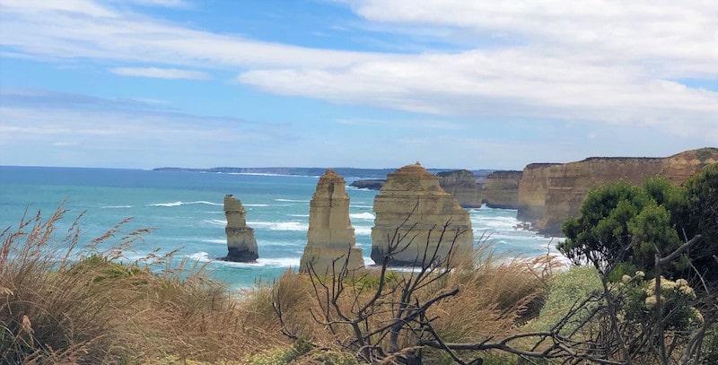 Ocean view of the 12 Apostles of the Australia Great Ocean Road