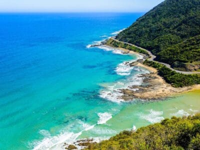 View from Teddy's lookout at Lorne Australia