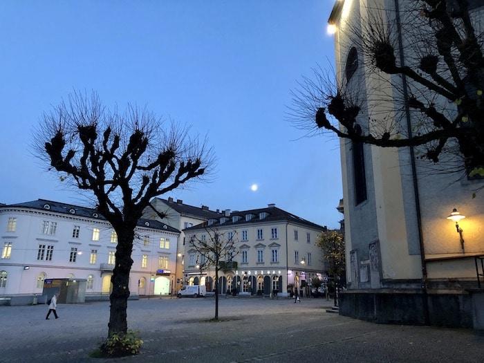 Linz, Austria, at night