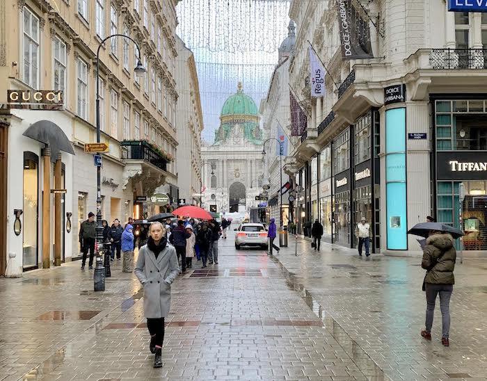 Shopping street in Vienna