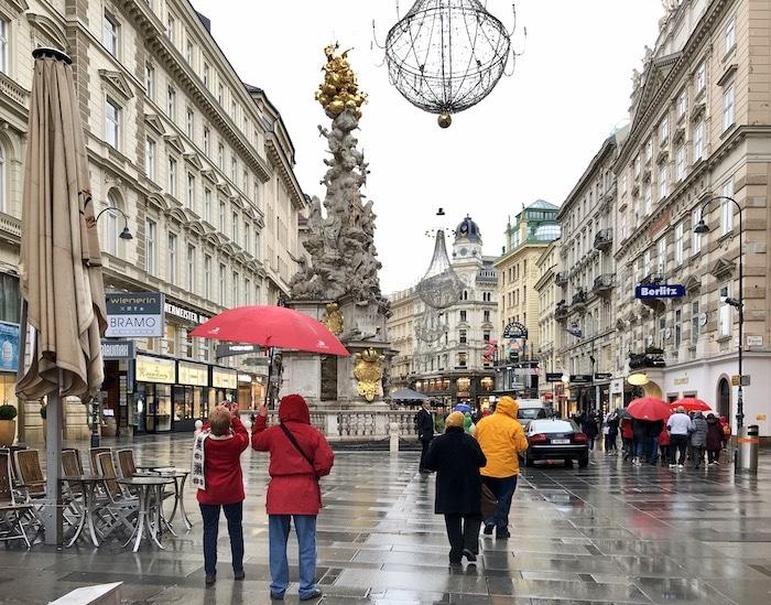 Vienna in the rain