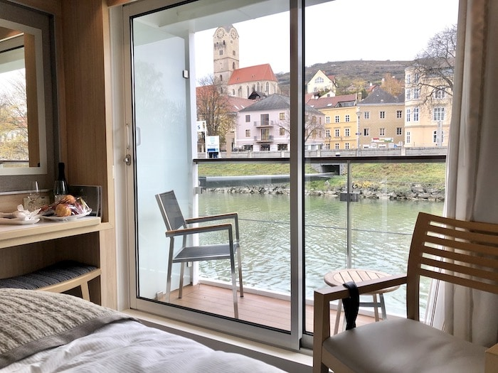 View from a Veranda Stateroom on Danube Waltz Cruise with Viking Cruises