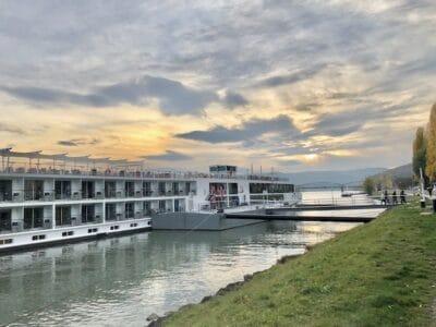 Viking River Cruise Danube ship on the river