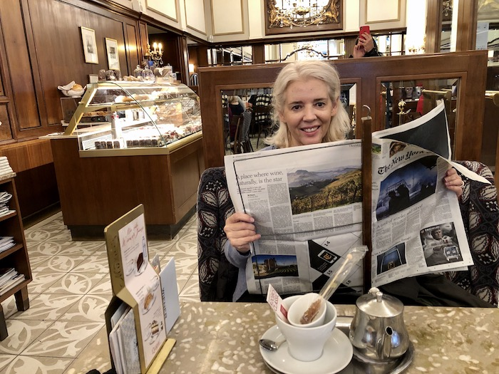 Wandering Carol Mozart Coffee House Vienna