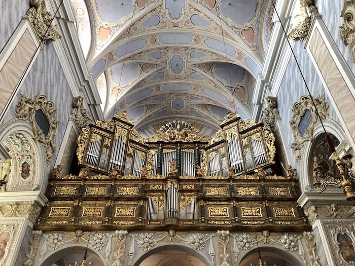 Church interior at Gottweig Abbey Austria