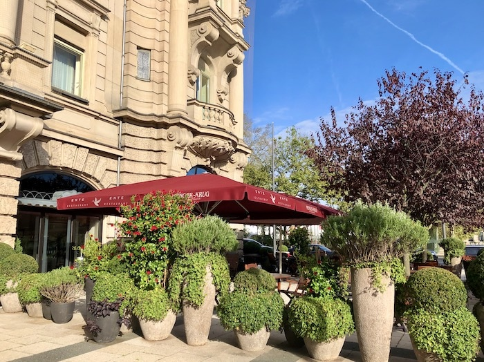 Outdoor terrace at Ente Restaurant in Wiesbaden