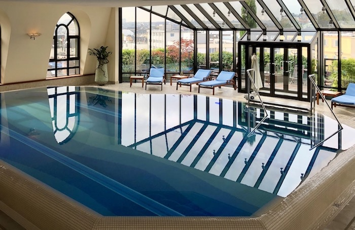 Thermal water pool in Wiesbaden at Hotel Nassauer Hof