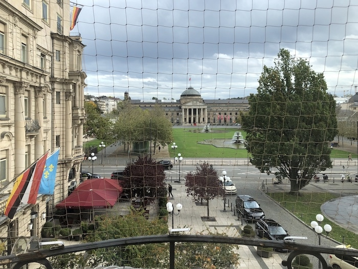 View of the casino in Wiesbaden from Nassauer Hof deluxe room
