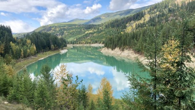 Kicking Horse River on Rocky Mountaineer train