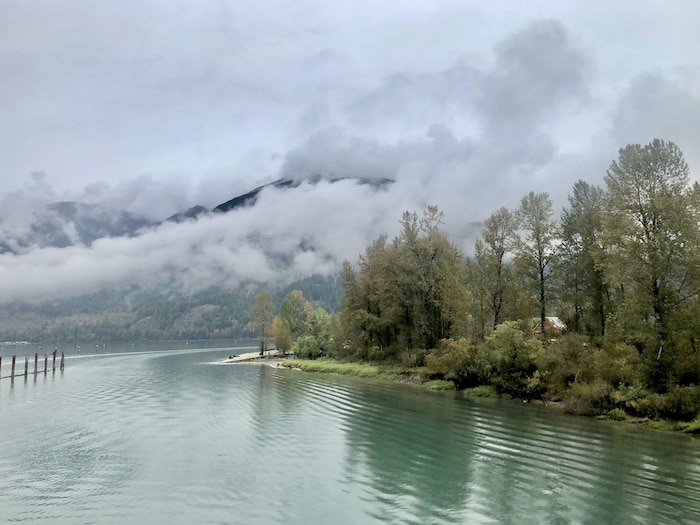 Views in British Columbia, Canada, on Rocky Mountaineer train