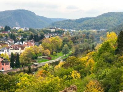 Beautiful scenery in Germany overlooking the spa town of Bad Kreuznach