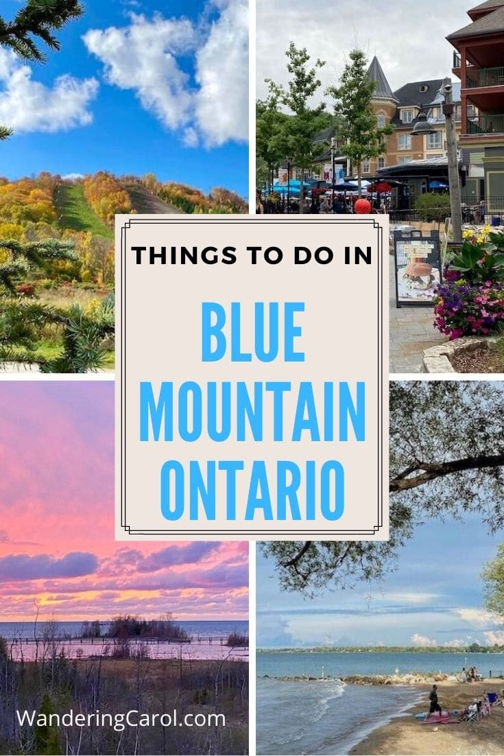 collage of images of the blue mountains near collingwood