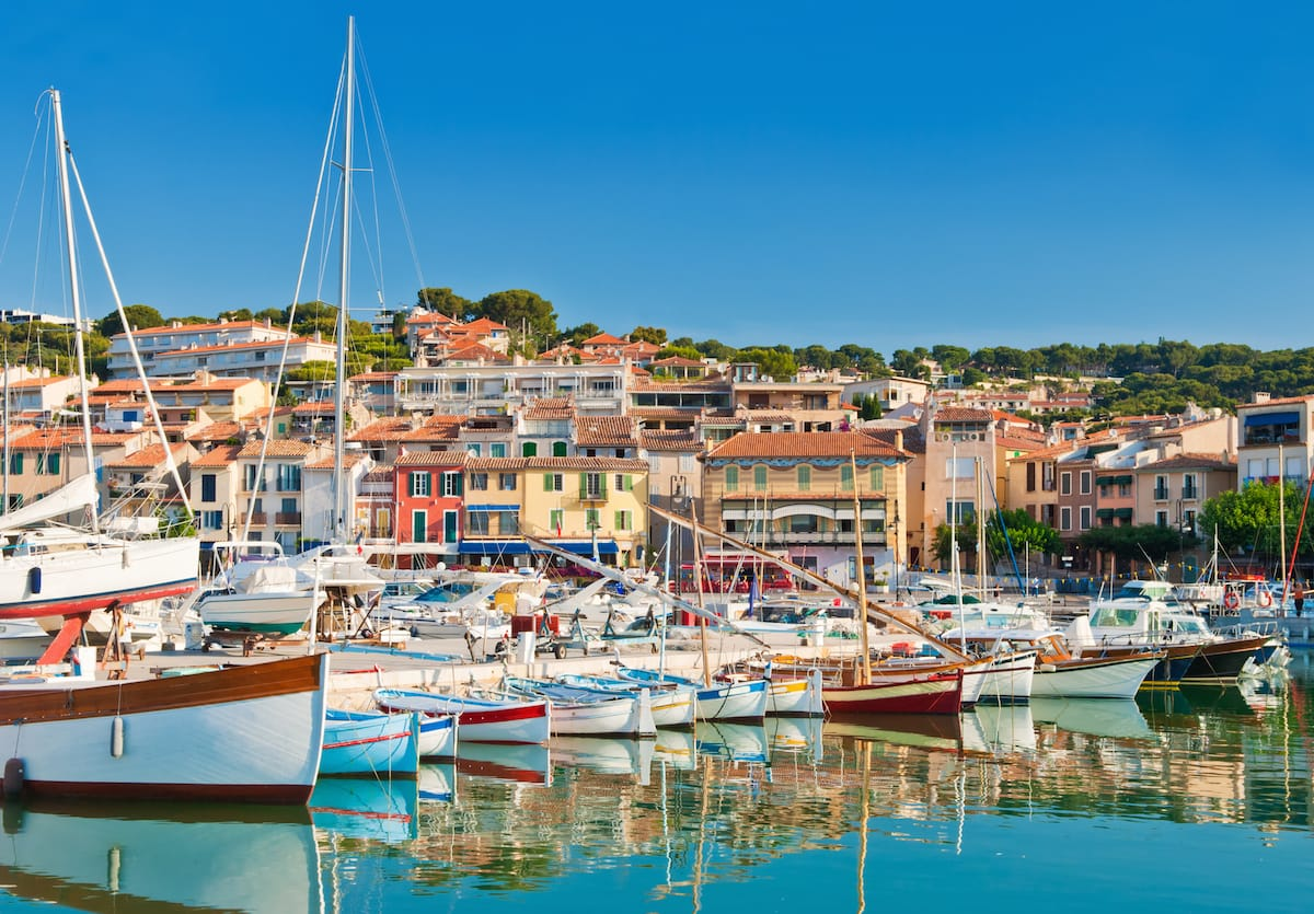fishing village of Saint Rémy de Provence in the Bouche du Rhone France