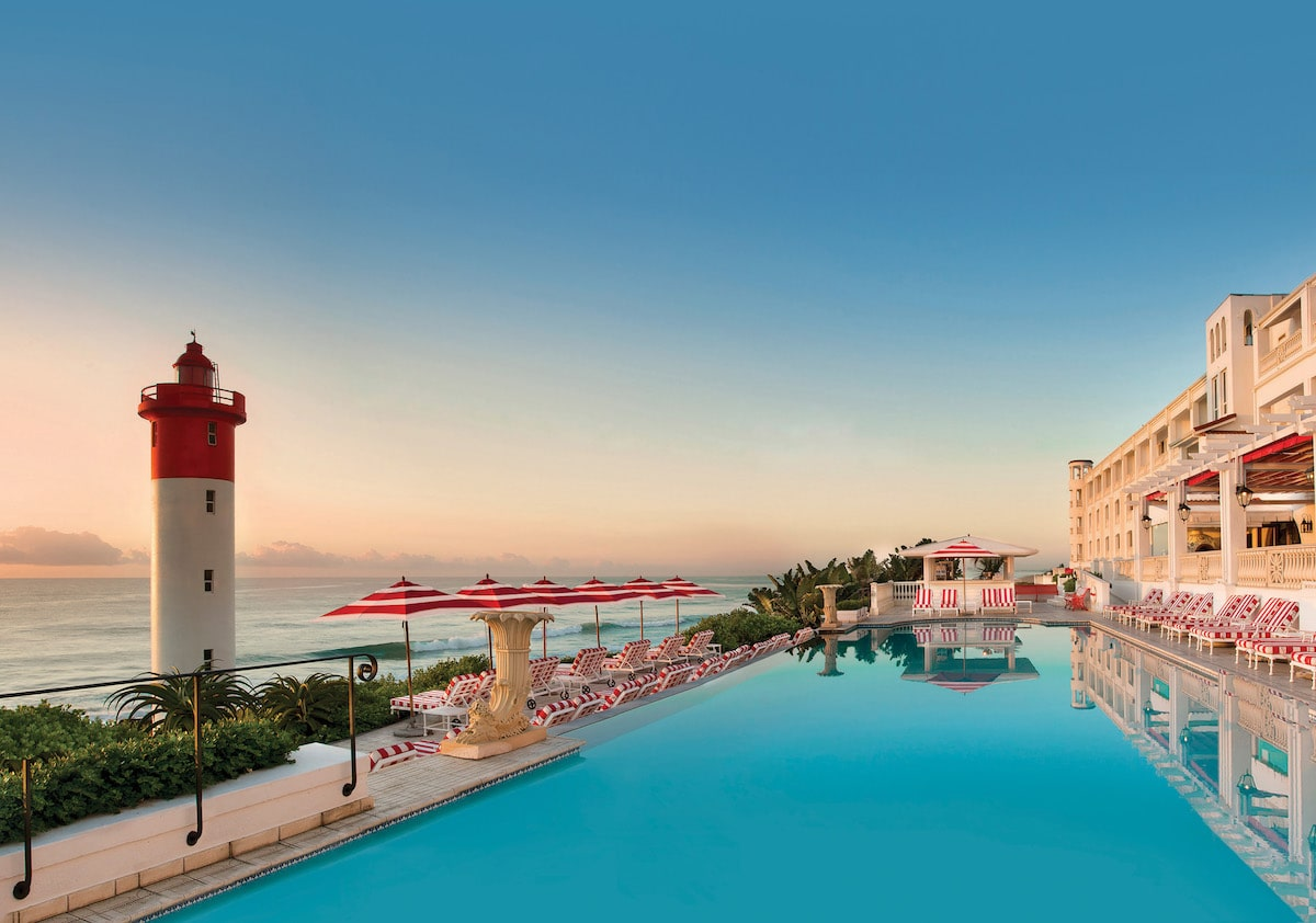pool at the oyster box hotel, one of the best beach resorts in south africa